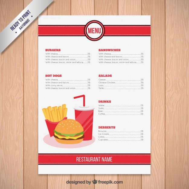 in menu tại tphcm