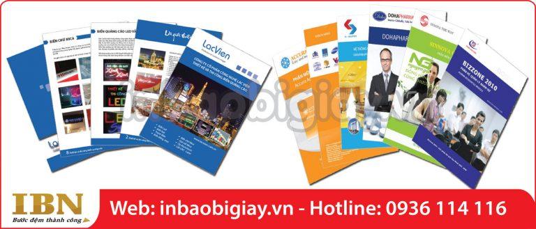 in catalogue chất lượng cao
