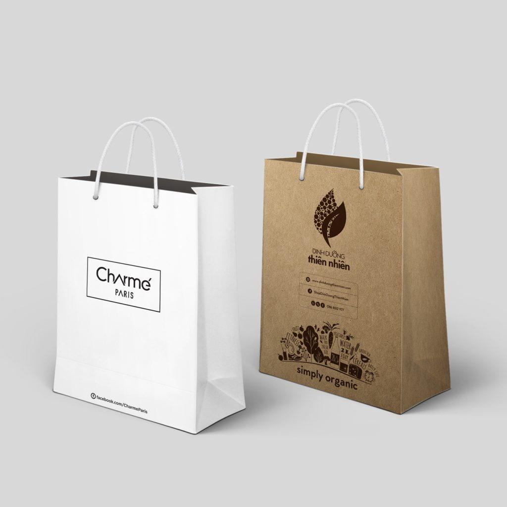 in túi giấy kraft chất lượng giá rẻ